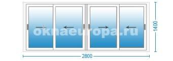 Стоимость остекления окнами Слайдорс в Москве