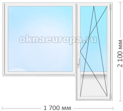 Цены на стандартные ПВХ окна