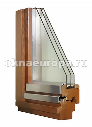 Теплое остекление деревянными окнами