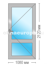 Дверь балконная в теплом алюминии