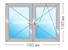 Окно в теплом алюминии