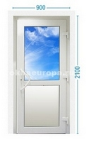 Цена входной двери со стеклопакетом